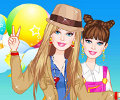 Cute girl dressup acampar