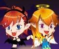 Halloween gêmeos diabo