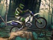 De la forêt de motocross de jeu