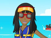 Beach lifeguard dress up